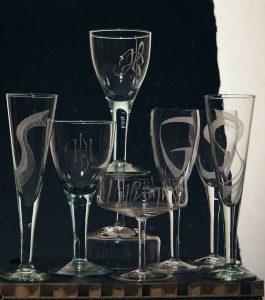 Gegraveerde glazen